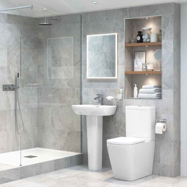 Modern bathroom with Tilia square CC rimless toilet