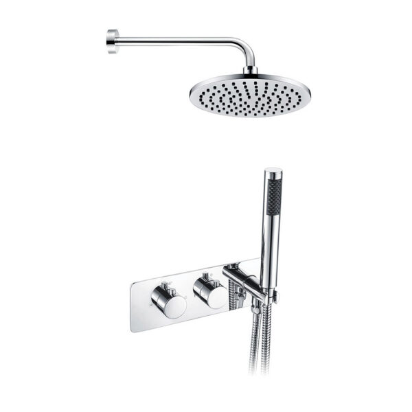 Lexi Twin Two Outlet with Handset & Brass Overhead Shower DICMP0032