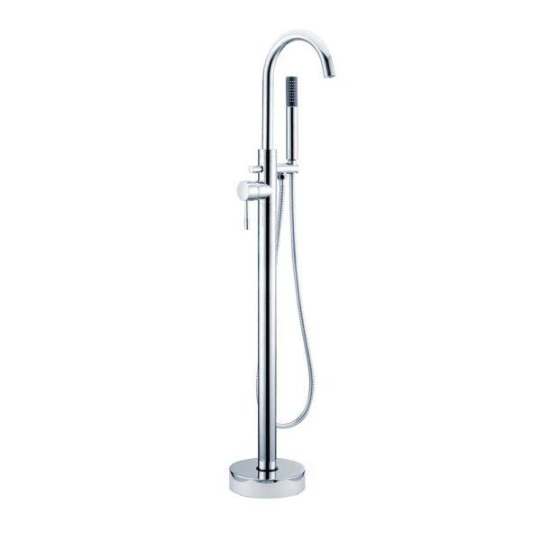 Primo floorstanding bath shower mixer in Chrome