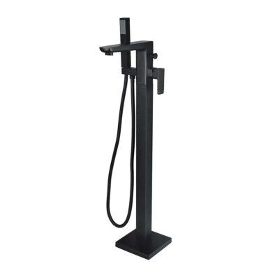 Finissimo Black Floor Standing Bath Shower Mixer