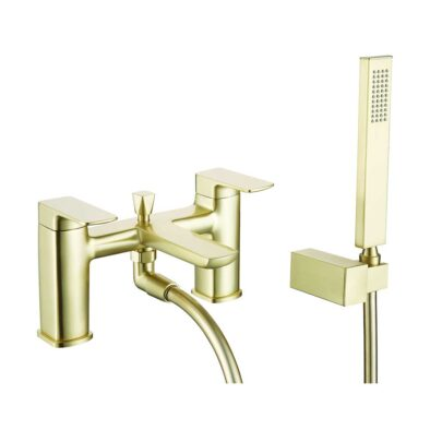 Finissimo Bath Shower Mixer in Brushed Brass