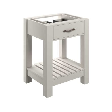Manhattan white ash 600mm floor standing bathroom vanity unit