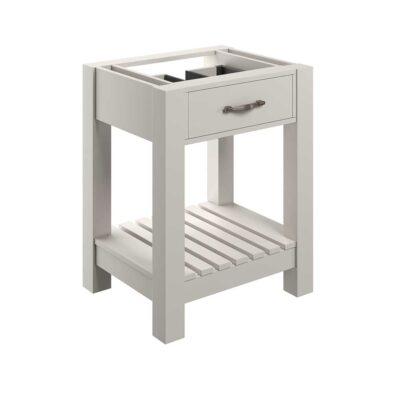 Manhattan white ash 600mm floor standing bathroom vanity unit