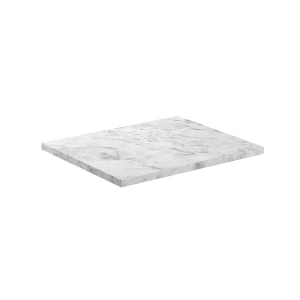 Manhattan Carrara Marble 620x508x19mm Laminate Worktop