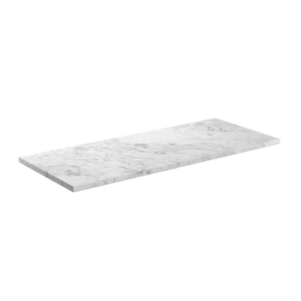 Manhattan Carrara Marble 1220x508x19mm Laminate Worktop