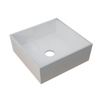 Sabina square countertop sit-on basin