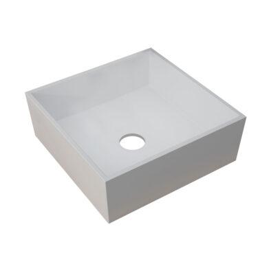 Sabina square countertop sit-on basin