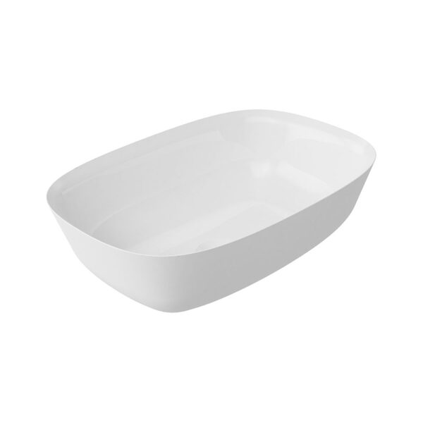 Layla white resin countertop washbowl by Bathrooms to Love