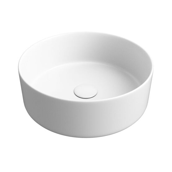 Luxey round washbasin in matt white