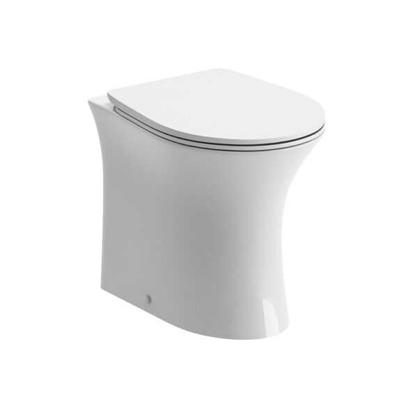 Sandro back to wall WC pan and rimless seat