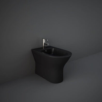 back to wall RAK bidet in matt black