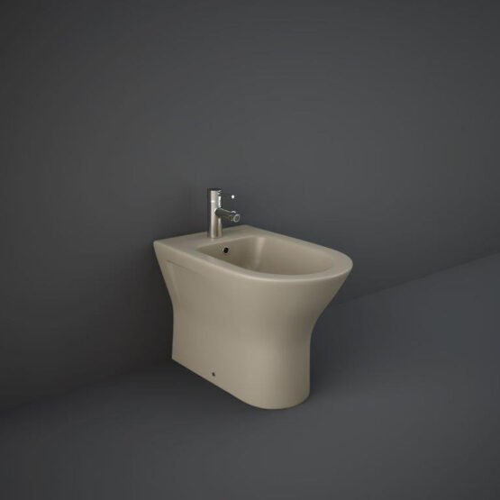 RAK back to wall bidet in matt cappuccino
