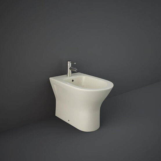 RAK matt greige floor mounted bidet