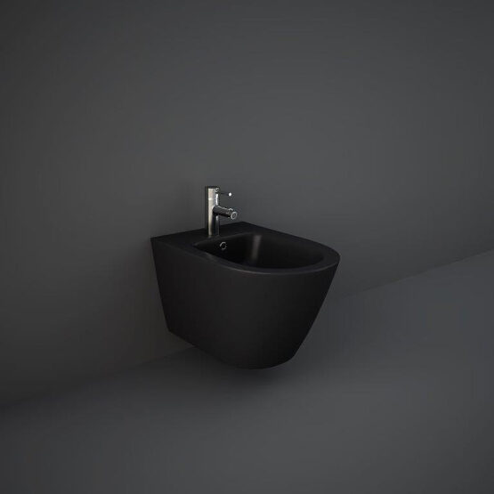 RAK matt black Feeling wall hung bidet