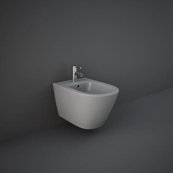 RAK Feeling matt grey wall hung bidet