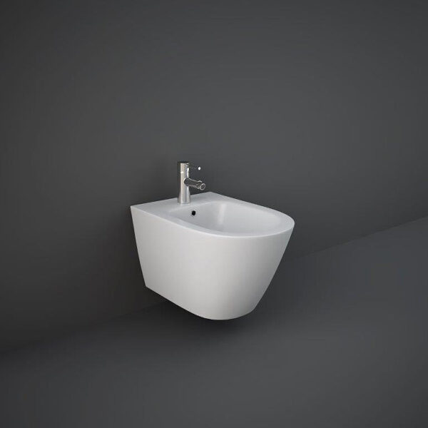RAK Feeling wall hung bidet in matt white