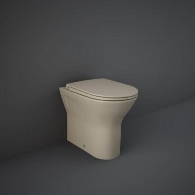 Matt cappuccino back to wall WC pan by RAK