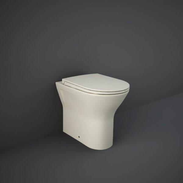 RAK Feeling back to wall toilet pan in matt greige