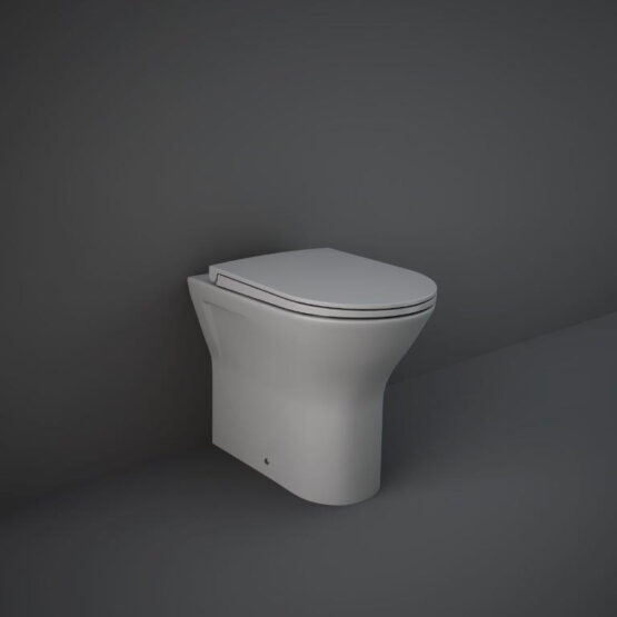 RAK Feeling back to wall toilet pan in matt grey