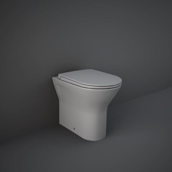 RAK Feeling back to wall toilet pan in matt grey
