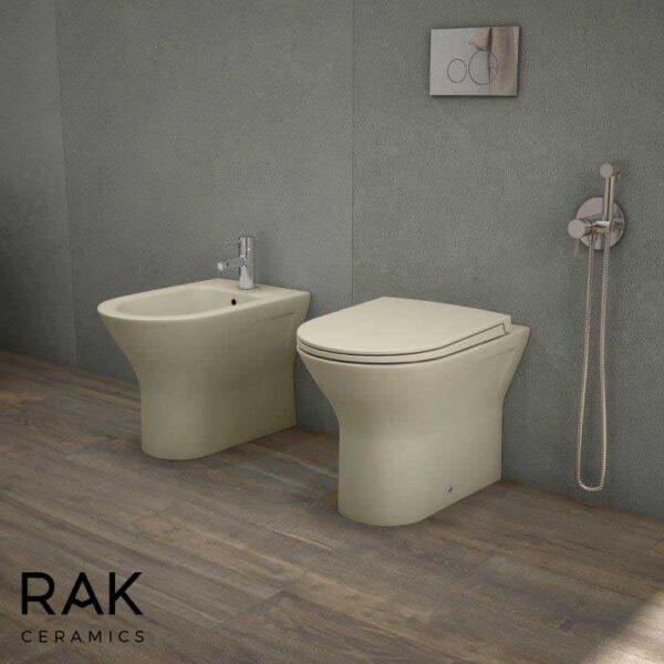 RAK Feeling back to wall toilet pan in matt cappuccino