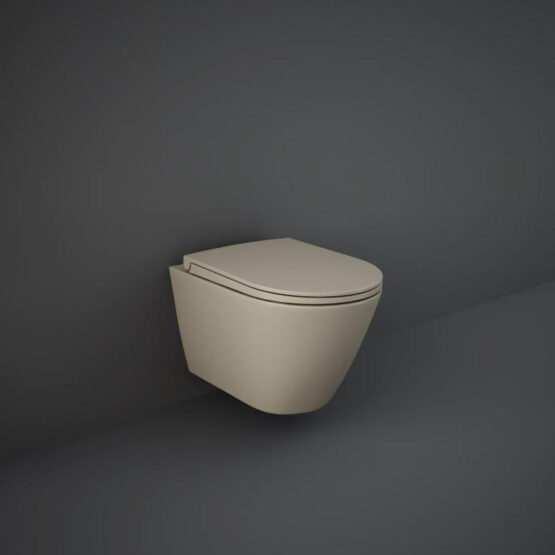 RAK Feeling wall hung toilet in matt cappuccino