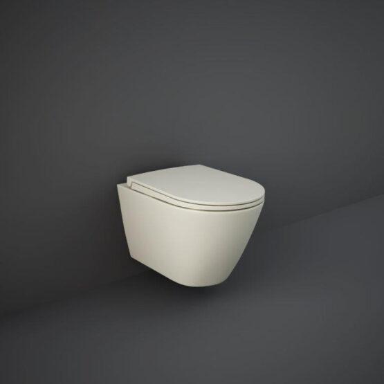 Feeling wall hung WC pan in matt greige