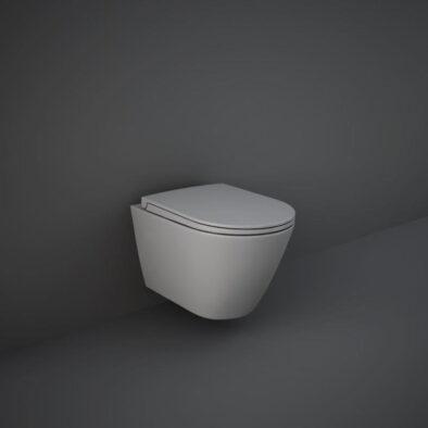 Feeling wall hung WC pan in matt grey by RAK