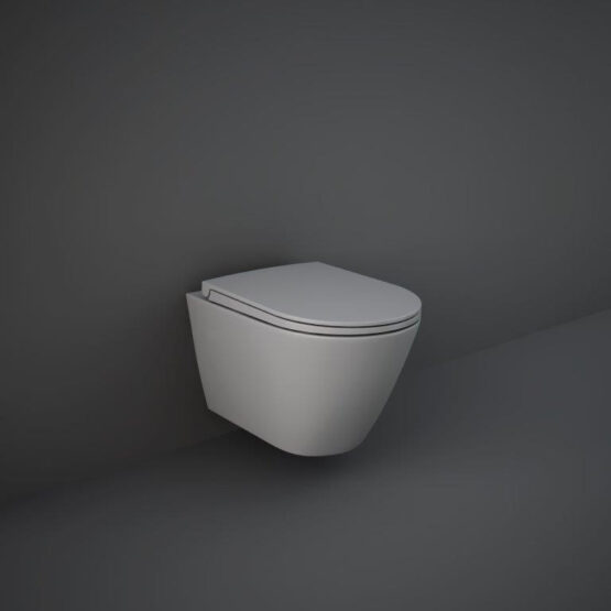 Feeling wall hung WC pan in matt grey by RAK
