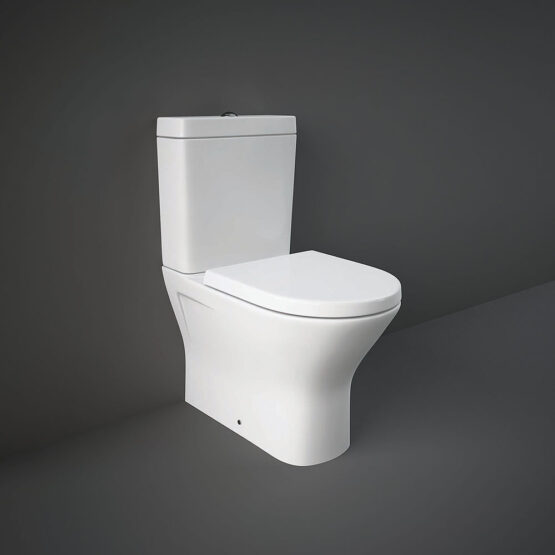 RAK Resort Mini close coupled WC pan with rimless seat