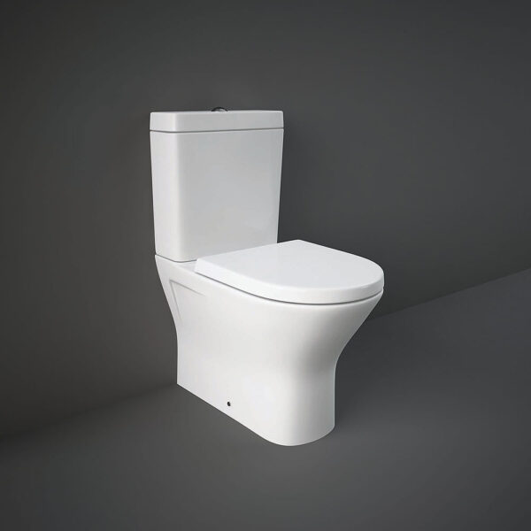 RAK Resort Mini close coupled WC pan with rimless seat