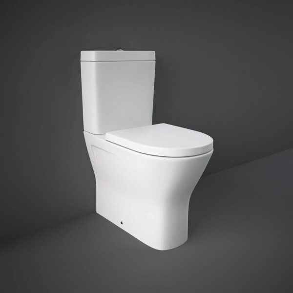 RAK Resort Maxi close coupled WC pan with rimless seat