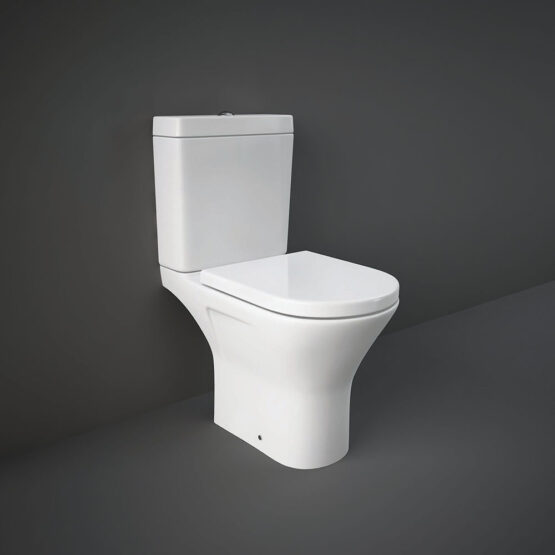 RAK Resort Mini open back WC pan with rimless design