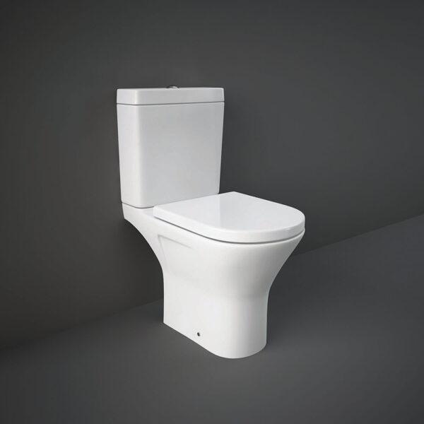 RAK Resort Mini open back WC pan with rimless design