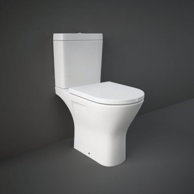 RAK Resort open back WC pan with rimless design
