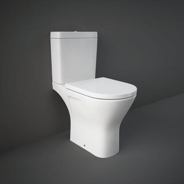 RAK Resort open back WC pan with rimless design