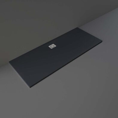 Black RAK Feeling shower tray 1700x700mm
