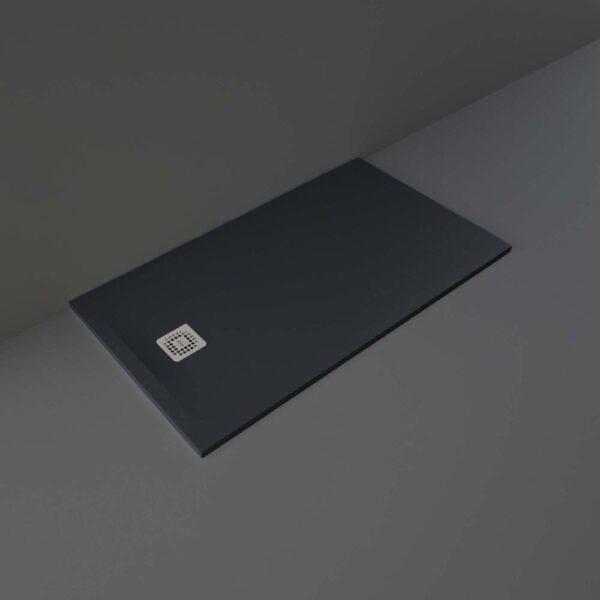 Black RAK Feeling shower tray 1400x800mm