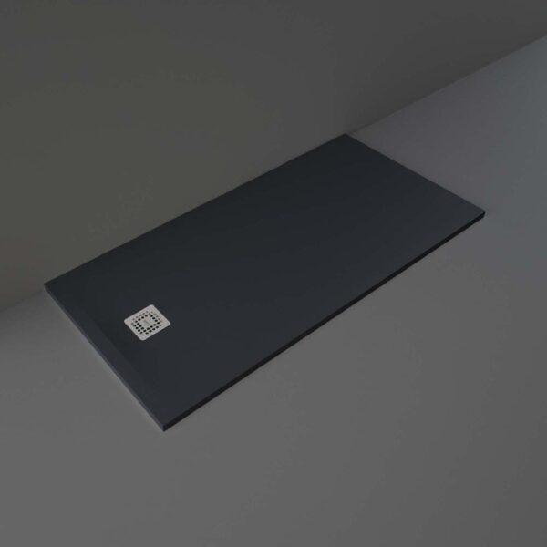 Black RAK Feeling shower tray 1600x800mm