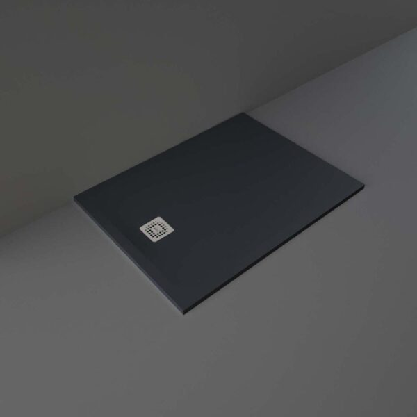 Black RAK Feeling shower tray 1200x900mm