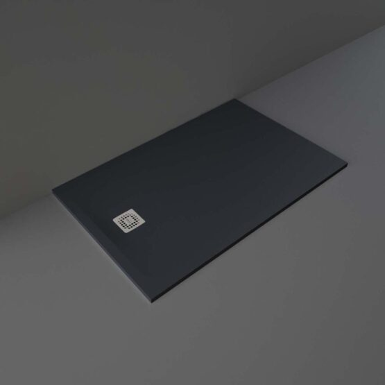 Black RAK Feeling shower tray 1400x900mm
