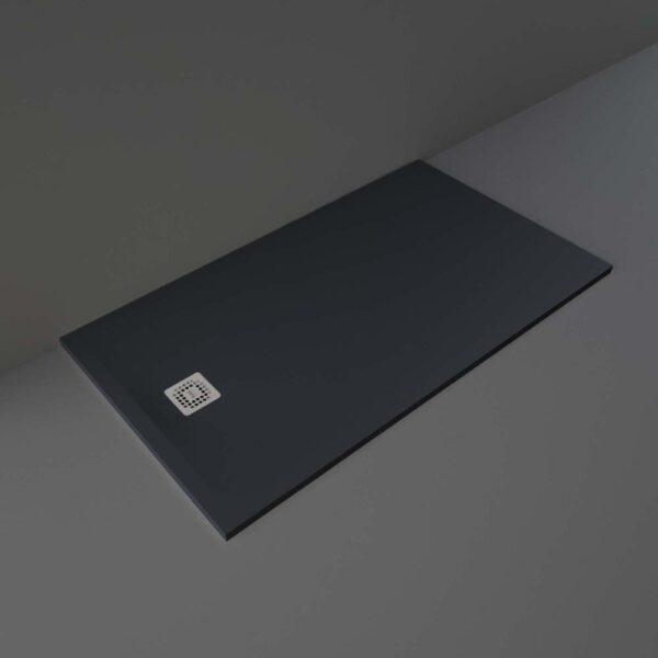 Black RAK Feeling shower tray 1600x900mm
