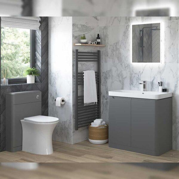 Sandro Back to wall WC pan and vanity basin unit