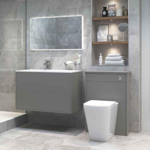 Tilia back to wall WC pan and vanity unit