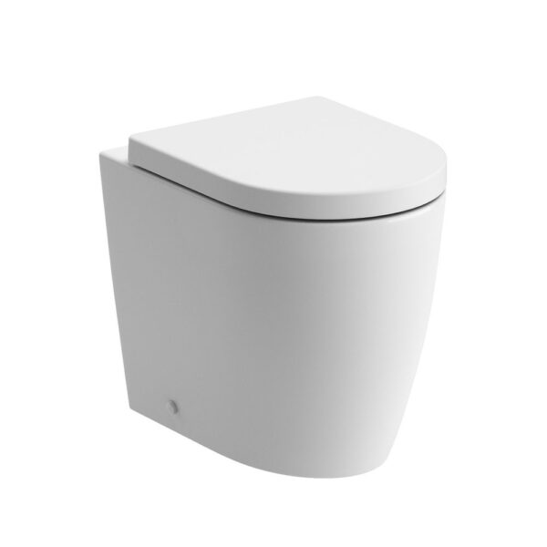 Cilantro back to wall rimless WC pan