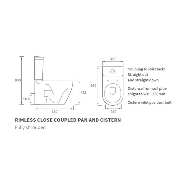 Cilantro wall hung wc technical diagram