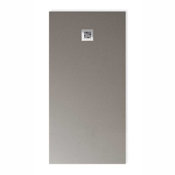 Drench Base designer low profile stone effect shower in Dusty Grey