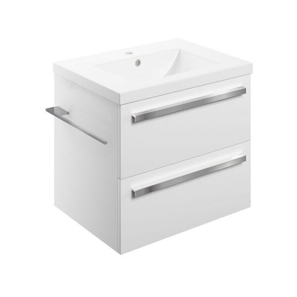 Morina white gloss 615mm wall hung bathroom vanity unit