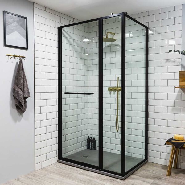 Drench Border black framed shower enclosure