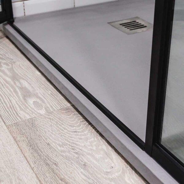 Slim frame detail of a Drench Deco shower enclosure